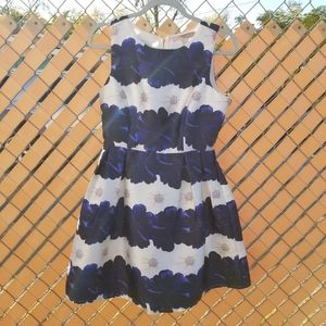 Blue/white floral Forever 21 Contemporary dress